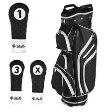 iBella Black Ladies Golf Cart Bag (with 3 Matching Headcovers) - NEW!