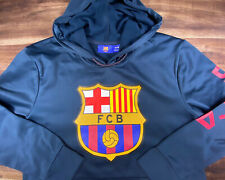 FC Barcelona pullover Club Navy Pullover Hoodie Sweater Size Medium barca