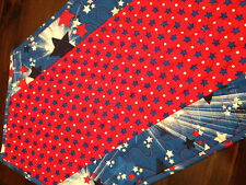 Handcrafted-Quilted Table Runner-Get the Holiday Spirit- Stars & Stripes Sale