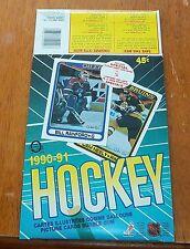 O-pee-Chee Hockey empty box  1990 -91  box bottom Steve Yzerman / Ray Bourque