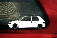 2x LOW peugeot 106 XSI, GTi, Rallye Lowered, stanced outline car sticker