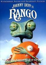 Rango (DVD, 2011) Johnny Depp family animated pet chameleon in the wild west