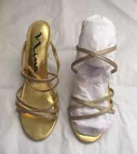 Nina Ricci Gold Glitter Women's Shoes  Heels, Mules Size US 8.5