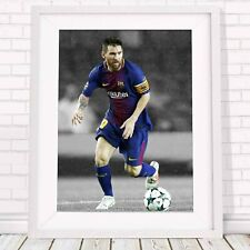 LIONEL MESSI -Football Soccer Poster Picture Print Sizes A5 to A0 *FREE DELIVERY