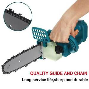 8''Brushless Cordless Electric Chainsaw Wood Cutting Tools For Makita Battery MU