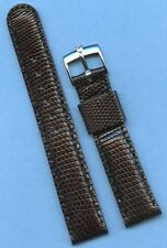 Rolex Tudor Steel Buckle, 19mm Genuine Black Lizard MB Strap Band Tang