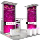 Solar A 20'x20' Island Modular Trade Show Exhibit Booth Display  - Base Package