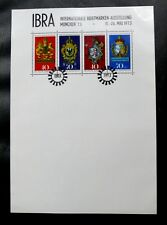 TIMBRES D'ALLEMAGNE : RFA BLOC FEUILLET EXPO IBRA MUNICH 1973 - NEUF (*) BE