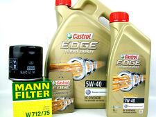 Castrol 5W-40 Turbo Diesel 5W40 Öl 1x 6L + MANN Ölfilter W712/75 Ölwechsel Set