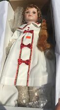 Heritage Signature Collection Porcelain Doll # 20046 Sammy And Her Teddy Bear