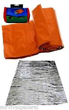"84""x36"" Emergency Aluminized Sleeping Bag Camping Outdoor Survival Tarp Shelter"