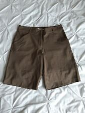 Nike Woman Brown Stretchy Golf Shorts Size 12 Uk (8 USA)
