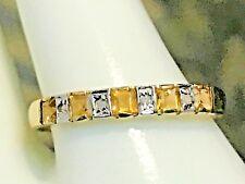 10k Gold .50 Karat Citrin & Diamant Ring 6.75 + Ring Kasten