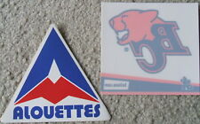 BC Lions window cling + Montreal Alouettes vintage (CFL) football stickers