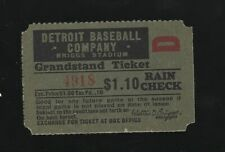Lot of 2 1940's - 50's Detroit Tigers Grandstand Ticket Stubs
