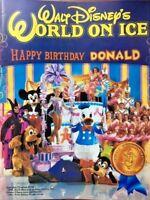 Disney World On Ice Souvenir Program 1985 Donald Duck Mickey Vintage Poster