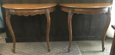 Demilune Tables A Pair French Provincial Style Wall Mount