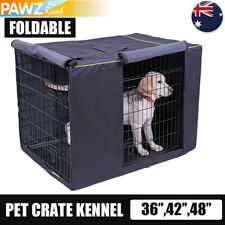 """Pet Dog Crate Wire Cage Kennel COVER Tent Mattress Bed Portable 24""""30""""36""""42""""48"""""""