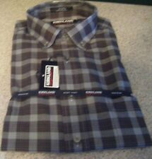 New Kirkland Signature Men's 100% Cotton Non Iron Shirt Blue Sz M 15-15.5 32/33