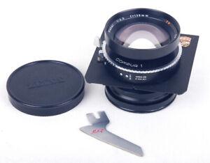 EX++ Linhof Carl zeiss planar 135mm f/3.5 T* Technika 4x5 Lens w/ Lens Board