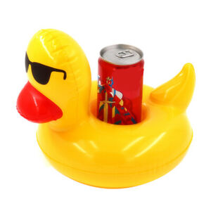 Inflatable Cup Holder Drink Holder Duck Swimming Pool Float Toy Party CoaY_MG