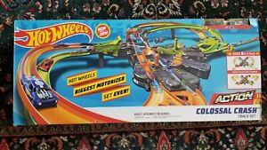 Brand New Hot Wheels Colossal Crash Track Set, Largest Motorized Set Ever