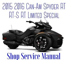 2016 Can-Am Spyder RT RT-S RT Limited Special Service Repair Parts Manual On CD