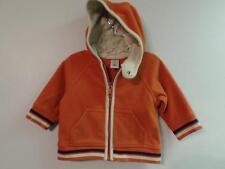 Boy's Old Navy Orange Fleece Full Zip Hoodie Jacket, Sz 3-6M ~ For Fall, Autumn
