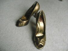 VINTAGE D & G BRONZE LEATHER PEEP TOE, ORIGINAL PRICE £235 SIZE 36 or UK 3.5