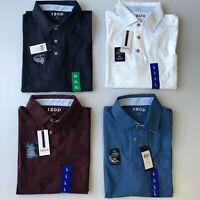 IZOD Men's Polo Size M Short Sleeve Soft Touch 100% Cotton Stretch Variety