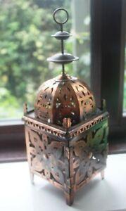Copper Decorative Tealight Lantern