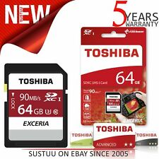 Toshiba Exceria SD Card│Mini Storage Device│4K & HD Photography│64GB Storage│