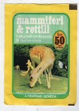 bustina figurine packet pochette  - MAMMIFERI E RETTILI PENNY