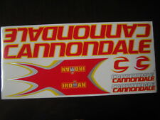 Cannondale Stickers  Red, Yellow & Silver.