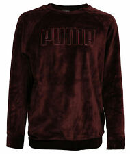 Puma Velour Womens Sweatshirt Velvet Track Top Jumper Burgundy 853292 02 A19C