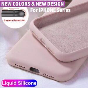 iPhone Case 11 12 Pro Max Mini XR XS X 8 7 Plus Shockproof Liquid Silicone Cover
