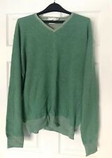 Peter Millar Golf Men's XL 100% Cashmere V Neck Sweater Pullover - Green *Flaw