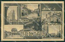 Brescia Città Saluti a Grande Velocità cartolina QK6684