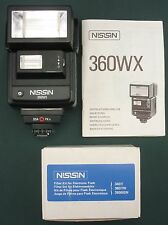 FLASH NISSIN 360 WX TTL POUR PENTAX + FILTRES + MANUEL / TRES BON ETAT