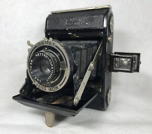 Zeiss Ikon Vintage Camera Derval 25 50 100 B T Nettar Anastigmat 1:6,3 f=7,5