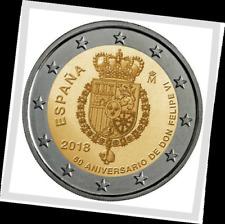 2 EURO *** Spanje 2018 *** Felipe 50 jaar - Philippe 50 ans *** Espagne 2018 !!!