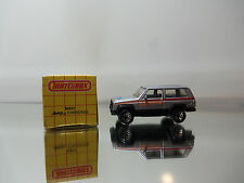 1991 Matchbox Jeep Cherokee MB27 - Sliver W/ Sport Tampo - Mint W/ Red Box 1/58