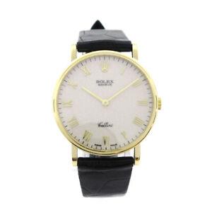 ROLEX GENEVE Cellini Ref.5112 W0* Mens Manual-winding Wristwatch YG750 A54065