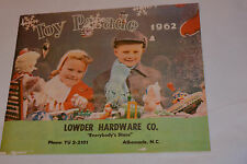 VINTAGE 1962 TOY CATALOG! CAP GUNS/BUDDY L/TONKA/GAMES/ART SETS/ERECTOR SET/++++