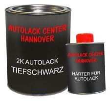 Autolack 2K Set schwarz glzd. + Härter RAL 9005 tiefschwarz black noir