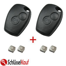 2x clés de voiture Boîtier DACIA DUSTER LOGAN sandero OPEL MOVANO vivaro +4x micro -