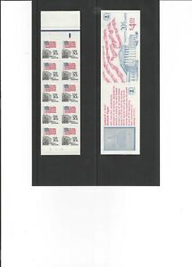 US 1983 BK140 $4.00 Booklet 1896b 20¢ US FLAG COURT 2 PANES 0f 10. PLATE #2 MNH