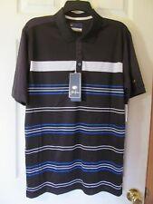 NWT Men's JACK NICKLAUS BLACK BLUE STRIPE Short Slv STAYDRI GOLF Shirt Size 2XL