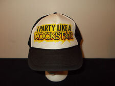 I Party Like A Rock Star Energy Drink snapback trucker mesh hat sku34