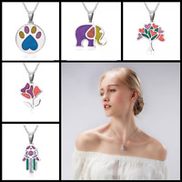 Women Charm Jewelry Gift Colorful Stainless Steel Animal Enamel Necklace Pendant